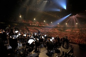 View from the stage at Night of the Proms