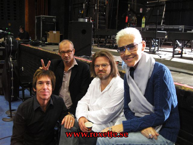 Roxette with Clarence and Christofer at NOTP rehearsals