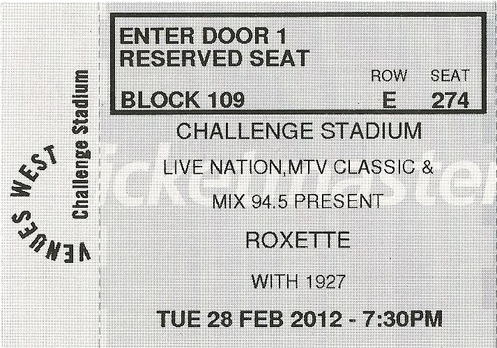 2012-02-28 Perth (new ticket)