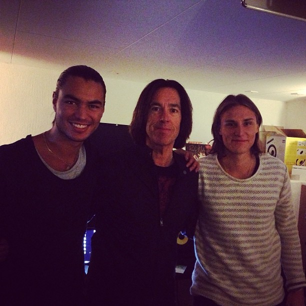Sebastian Atas, Per Gessle, Victor Sjöström - pic was posted by the guys from Galavant at their Instagram profile