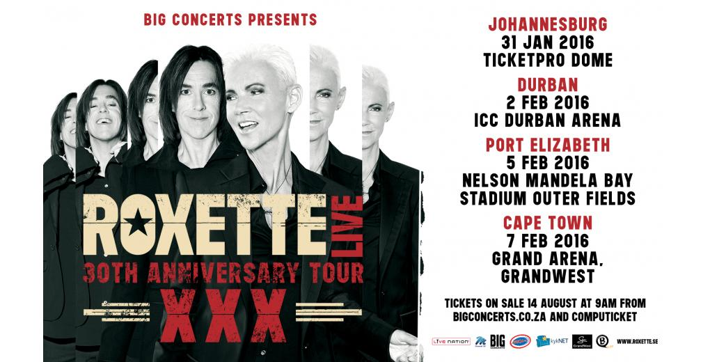 Roxette South Africa_Big Concerts